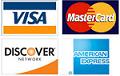 American Express, Discover, Mastercard and Visa