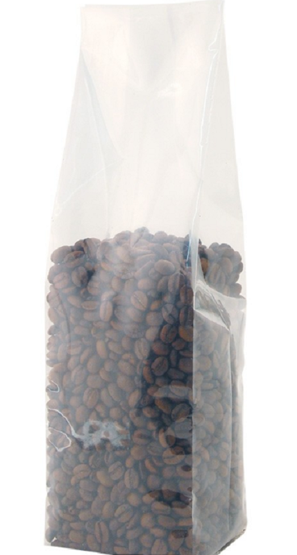 Coffee Bags Clear Gusseted Bag No Valve