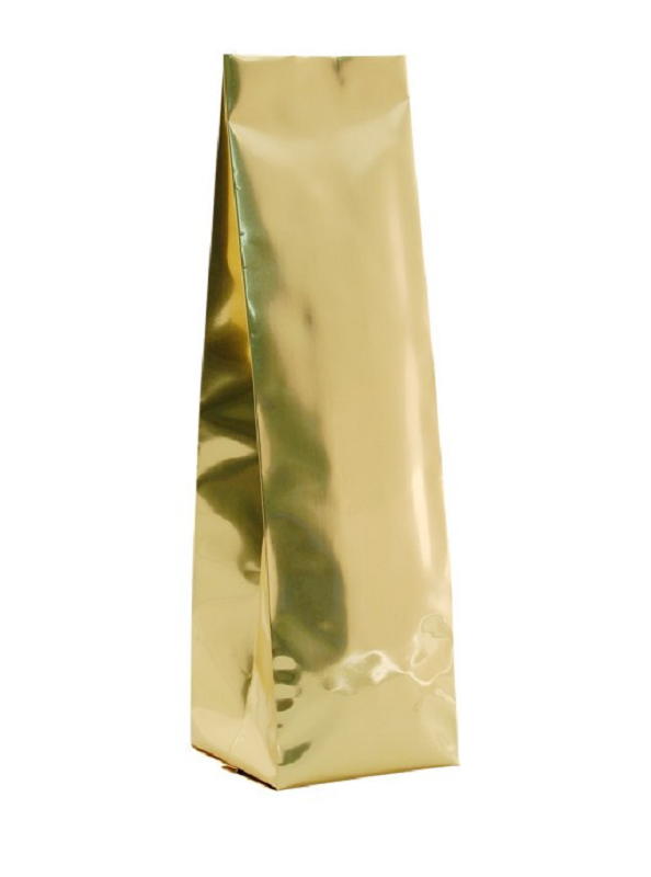 Coffee Bags Foil Gusseted Bag Gold No Valve
