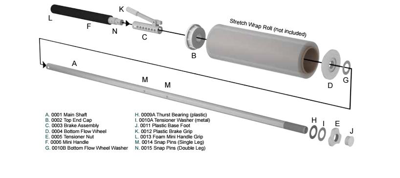 NWD Parts - Nelson Wrap Dispenser Parts