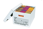 Deluxe Storage Filing Boxes - White - 15 x 12 x 10 12 Ct.