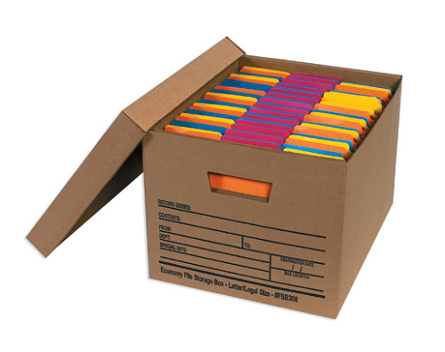 Economy File Storage Boxes - Filing 12 Ct.