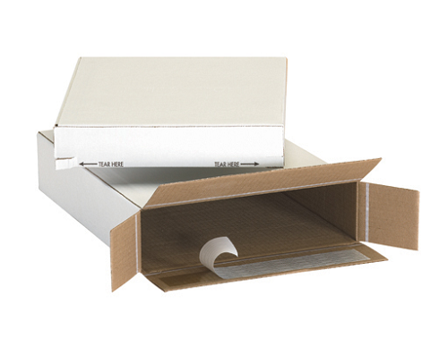 9 1/4 x 3  x 6 3/4 - White Self Sealing Mailer - Side Load  25 Ct.