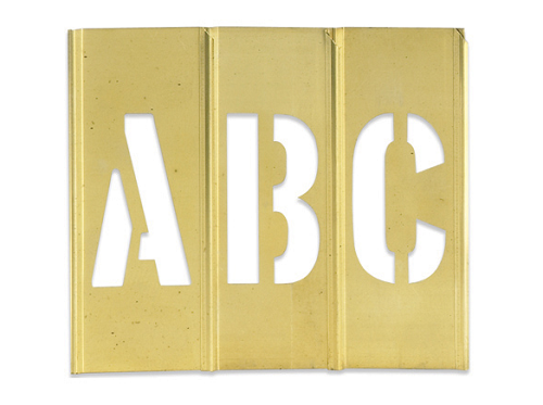 Letter Addressing Stencil.Brass Stencils Sets 3 Inch Letters And Numbers Stbln3