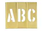 Brass Stencils Sets - 1 inch Letters and Numbers - STBLN1