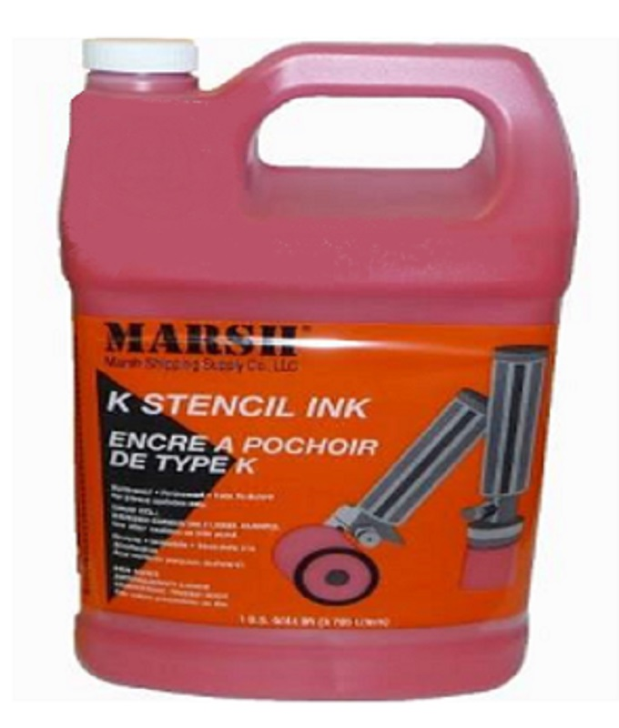 Marsh K Stencil Ink - Red - 1 Gallon Can - K-R-G