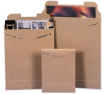 Kraft Flat Mailers With Locking Tabs