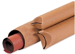 Mailing Tubes - Crimped End - Kraft Brown