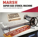 Marsh Super Size Stencil Machine Parts (Non-Returnable)