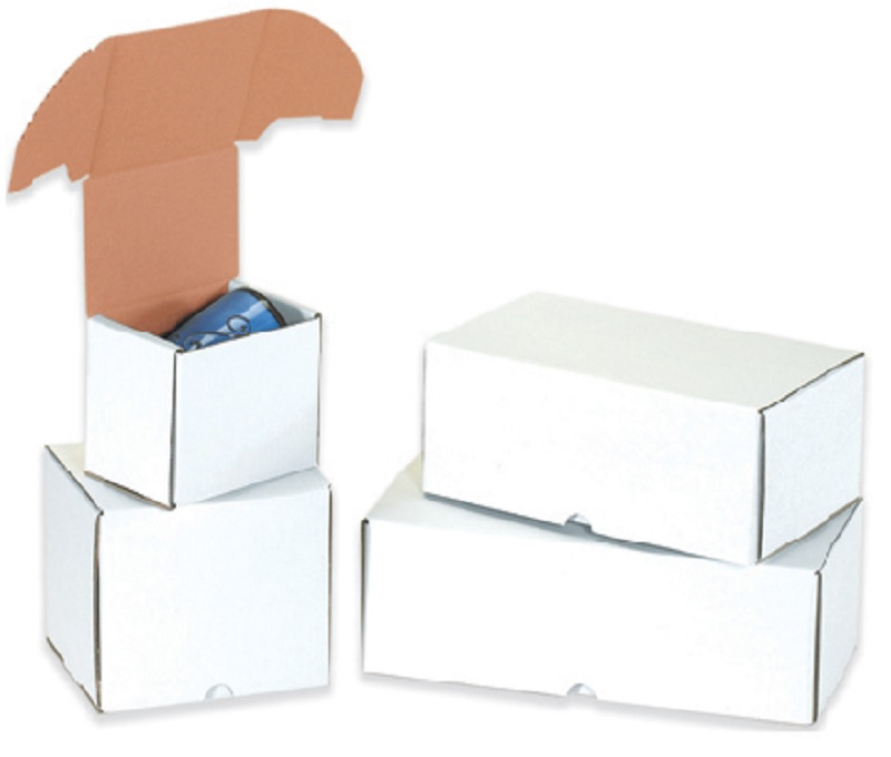 Outside Tuck White Cardboard Boxes - 5 5/8 x 4 3/16 x 5 50 Ct.