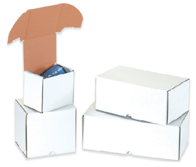 Outside Tuck White Cardboard Boxes - 7 5/8 x 6 x 5 7/16 25 Ct.