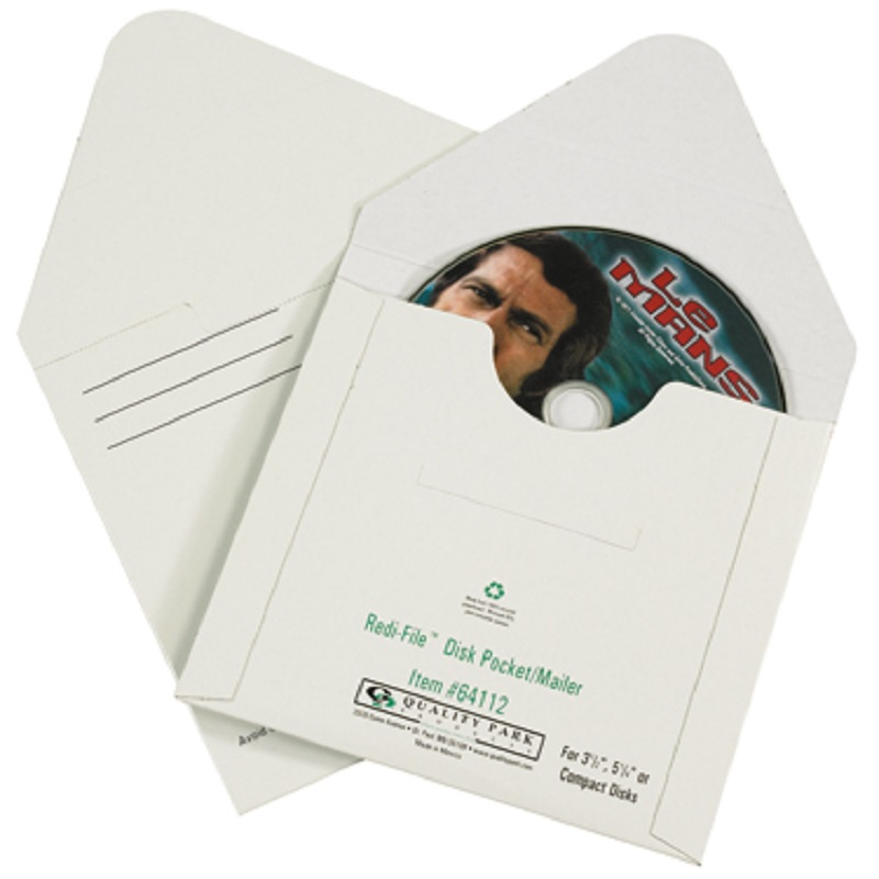 4 7/8 in. x 5 in. CD Mailers - Tyvek With Window 500 Ct.