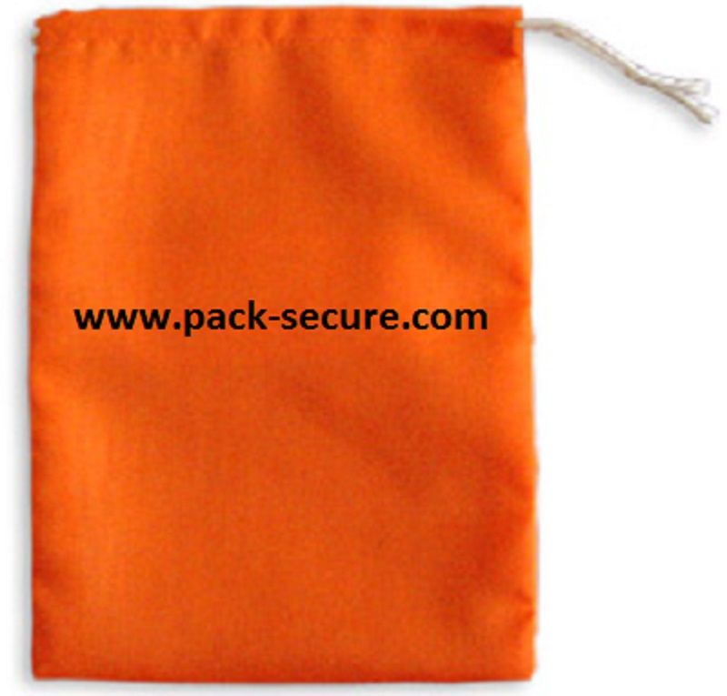 Orange Fluorescent Drawstring Bags  - 4 x 6 (100 Ct)