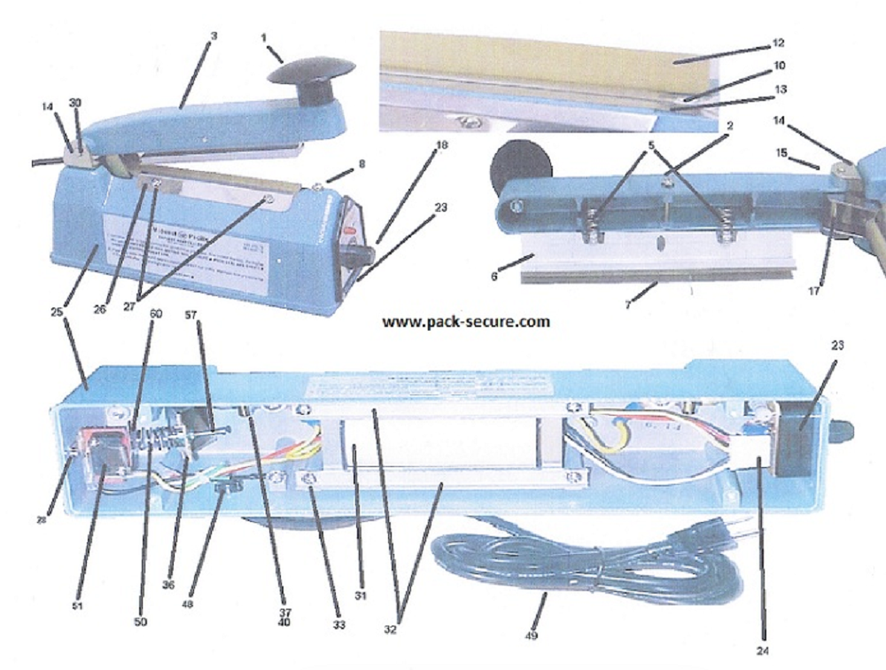 mphsea mp 12 parts mp 12 mp 12 hand sealer midwest pacific parts heat seal wiring diagram at mifinder.co