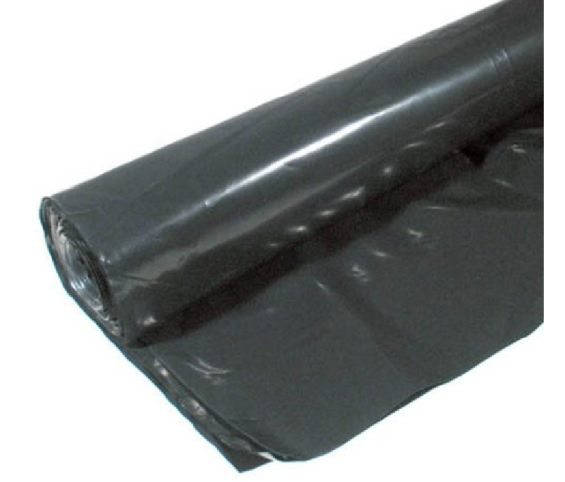 Landscaping Black Plastic Sheeting : Black poly sheeting cf b plastic film pack secure