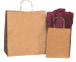Paper Bags - Shoppping Bags with Handles - Brown Kraft or White
