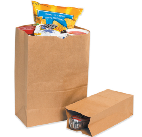 Paper Grocery Bags - Brown Kraft or White
