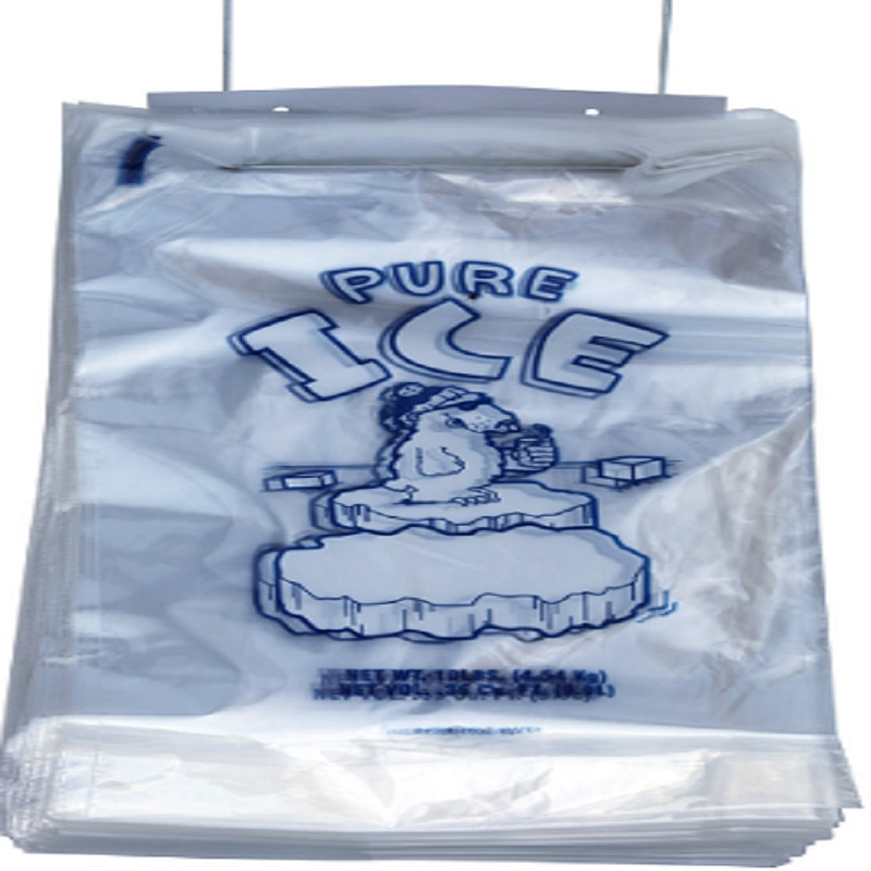 Ice Bags - 11 x 19 + 3 - 8 lb - Wicketed - Twist Ties -  PB-ICE-8M