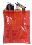 Colored Tinted Zip Bags Reclosable - Red - 10 x 12 - 2 mil. - 1000 Count
