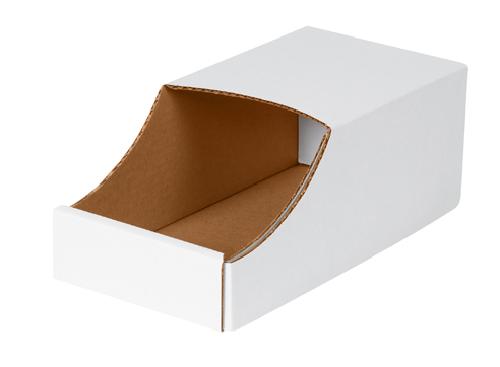 bin boxes stackable cardboard 12 x 12 x 45 50 ct