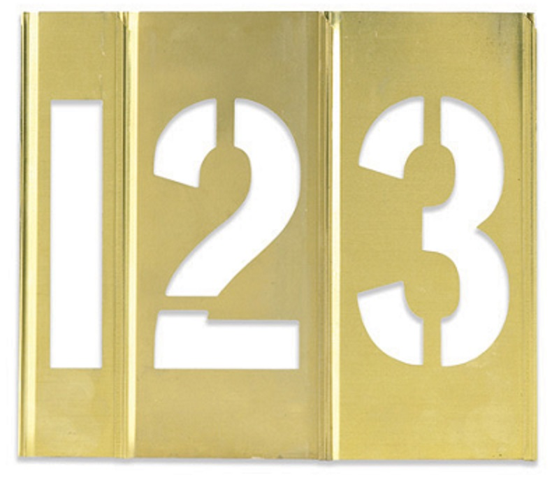 Brass Stencils Sets - 3 inch Numbers - STBN30