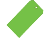 Green Colored Tags - Shipping Tags - 1000 Count