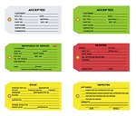 Colored Inspection Tags