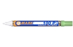 UMark 100P Paint Marker - Bright Green - Fine Line 10209FL - 12 ct