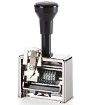 8 Wheel Deluxe Numbering Machine 320 - Roman Style Font 3/16 inch - Reiner