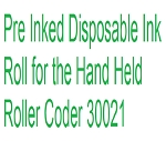 Black Pre Inked Disposable Ink Roll for Roller Coder 30021 - Non Returnable, Non Cancellable - 33166