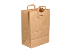 Plain Flat Handle Up - Grocery Bags - 12 x 7 x 17 - 300 ct.