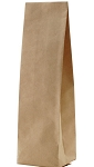 Kraft Side Gusseted Block Bottom Bag - 16 oz. (Choose Valve or No Valve)