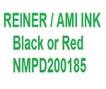 Black Ink for Reiner Numbering Machines for 7-8 Wheel B600/2 - Quantity 3