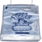Ice Bags - 12 x 20 + 3 - 10 lb - Wicketed - Twist Ties - PB-ICE-10M