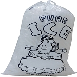 PB-ICE-8DS - Ice Bags - 11 x 18 - 8lb - Draw String