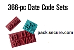 Ribtype Date Code Set - 1/8 in. - DCA10 SB1L - 79900 - 366 piece set - Natural Rubber
