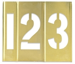 Brass Stencils Sets - 1 inch Numbers - STBN10