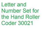 Letter and Number Set - 3/8 inch for Roller Coder 30021 - Non Returnable, Non Cancellable - TU75
