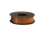 Plas-ties Twist Tie Spools - Brown-312-H - Plastic/Paper - 5 spools / 2000 ft each