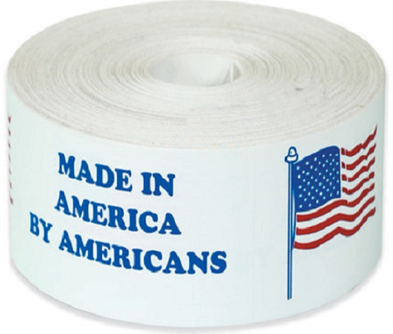 Made In America by Americans Labels  2 x 8 500 Ct.