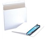 White Gusseted Flat Mailers