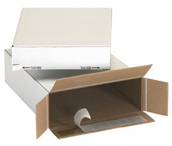 11 1/4 x 3 x 15 1/8 White Self Sealing Mailer - Side Load 25 Ct.