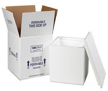 Insulated Shipping Boxes - Interior 8  x 6 x 12 - 212C
