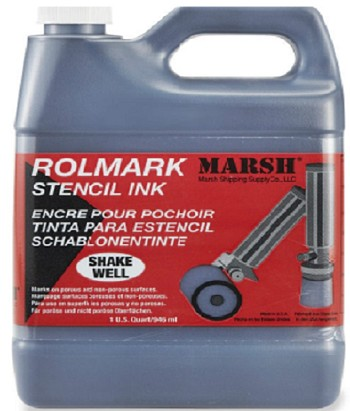 Marsh Poly Rolmark Ink - 1 Quart - Black - 20958
