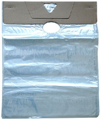 Doorknob Bags - 6 x 12 + 3.5 LIP - 1.5 Mil with Door Knob Hole - 1000 Ct.