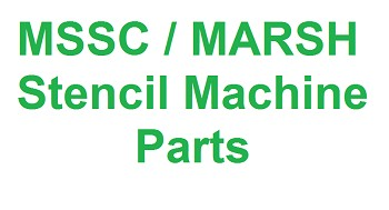 Marsh Stencil Machine Parts