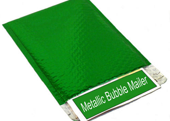 Green Glamour Metallic Bubble Mailers 9 x 11.5 - 100 Ct. - CLEARANCE