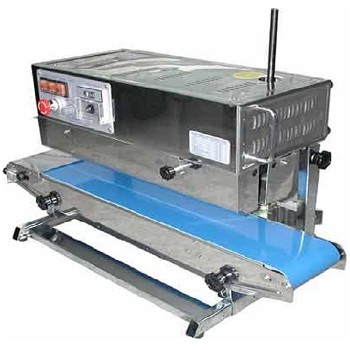 AIE-882BSR - Vertical Continuous Band Sealer (Stainless Steel) Runs Left to Right.