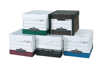 R-KIVE Woodgrain Heavy Duty Storage Boxes - 15 x 12 x 10  12 Ct.