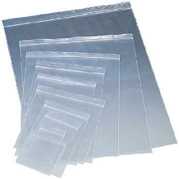13 X 18 - Clear Reclosable Bags - 2 mil Food Grade 1000 Ct.